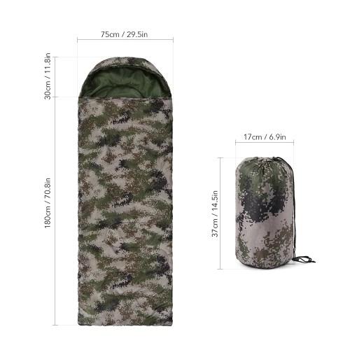 Outdoor Camouflage Envelope Sleeping Bag