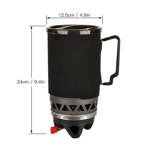 1400ML Outdoor Camping Picnic Stove Pocket Gas Cooking Stove 3-IN-1 Pot Bowl Cooking Stove