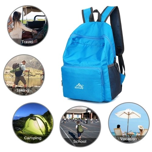 25L Ultra Lightweight Backpack Water Resistant Daypack Foldable Outdoor Bag for Camping Travel Hiking