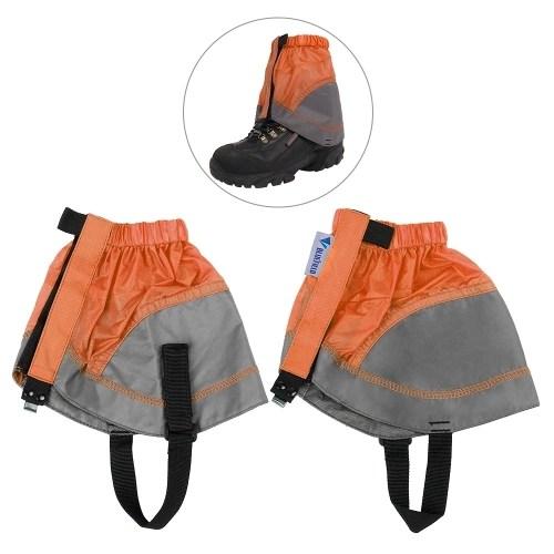 1 Pair Short Shoe Gaiter Ultra Light Ankle Gaiter Coated Nylon Ankle