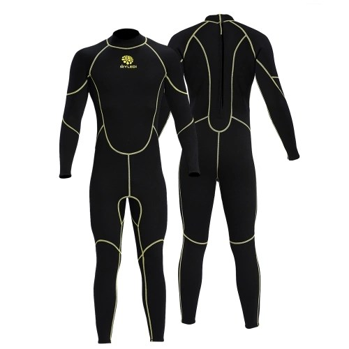 Mens 3mm Back Zip Full Body Wetsuit Swimming Surfing Diving Snorkeling Suit Jumpsuit