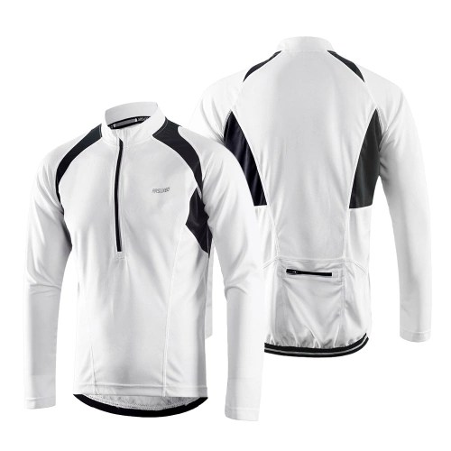 Arsuxeo Mens Long Sleeve Cycling Jersey Lightweight Breathable Quick Dry