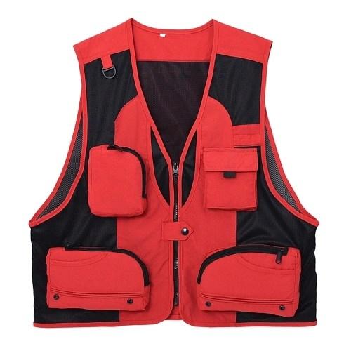 Outdoor Fishing Waistcoat Sleeveless Mesh Fishing Jacket