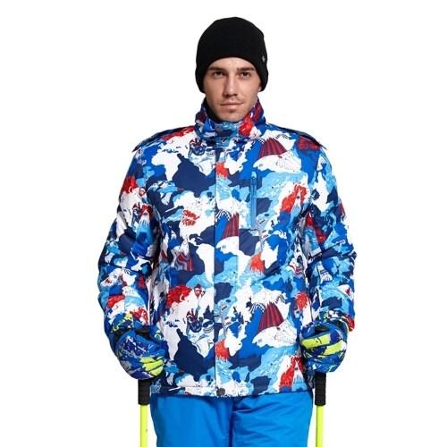 Mens Hooded Windproof Ski Jacket Breathable Waterproof