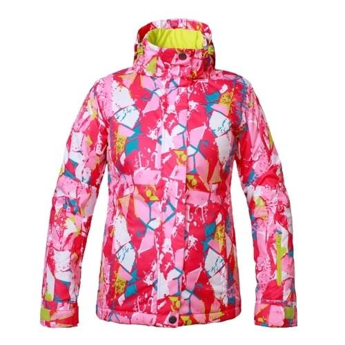 Womens Hooded Windproof Ski Jacket
