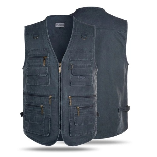 Outdoor Sleeveless Zipper Fishing Jacket Multi-pockets