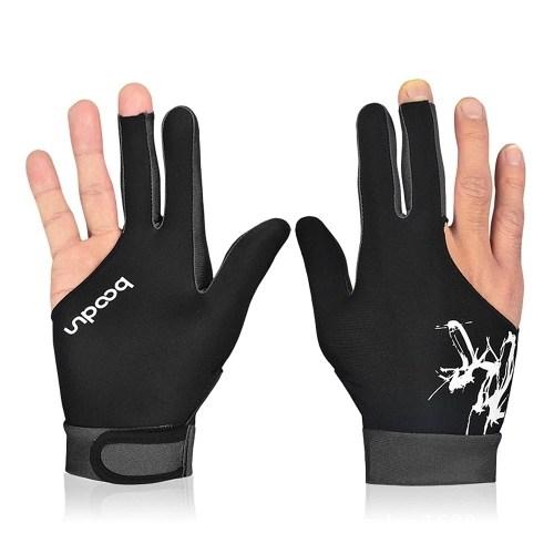 BOODUN 1Piece Billiard Glove 3 Fingers Cue Sports Glove