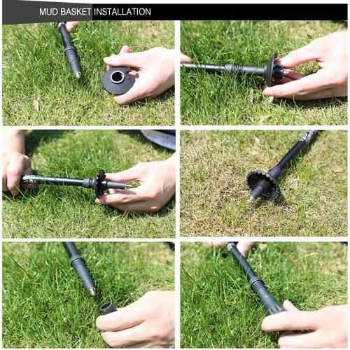Carbon Fiber Lightweight Trekking Pole Adjustable Telescopic Hiking Walking Stick 3 Section