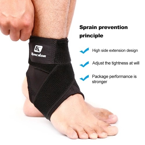 Sport Ankle Support Elastic High Protect Sports Equipment Safety Running Basketball Ankle Brace Support Black&S