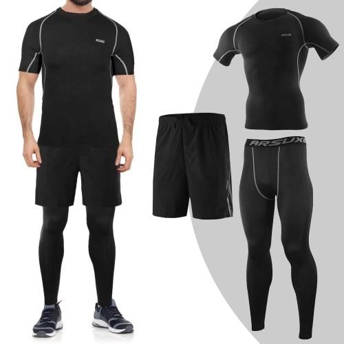 3Pcs Men Workout Clothes Set