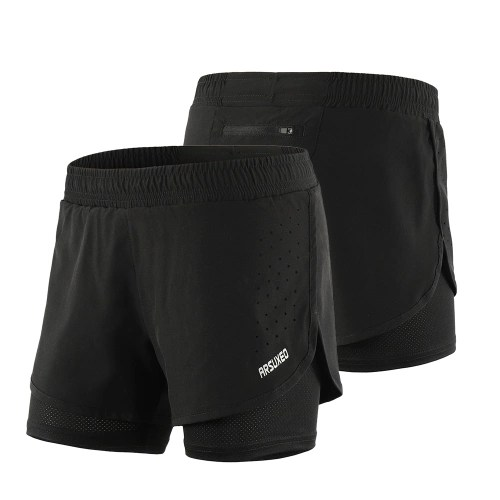 Arsuxeo Womens 2-in-1 Running Shorts