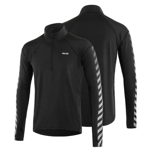 Mens Athletic Quick Dry Long Sleeve Pullover Shirt