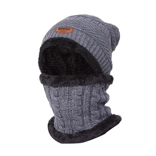 Warm Knit Beanie Scarf Set