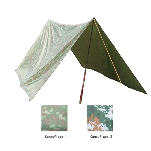 3 * 3m Camouflage Outdoor Waterproof Awning Camping Mat Mattress Multifunction
