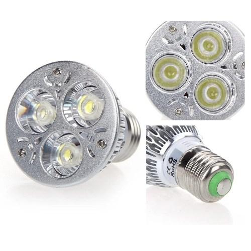 Dimmable 9W E27 White LED Light Spotlight Lamp Bulb 185-265V