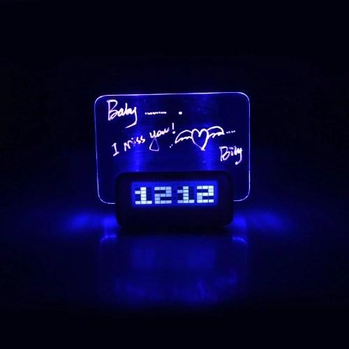 Digital Message Board Clock Alarm Temperature Calendar Timer Blue Light