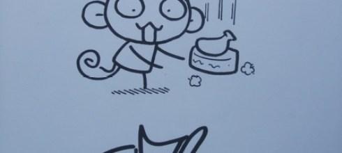 輔大猴送我的手繪!!!