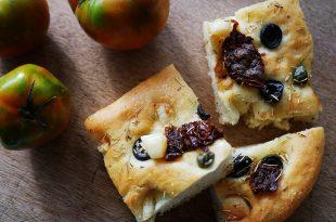 [食譜] 迷迭香黑橄欖佛卡夏做法,油漬番茄佛卡夏做法
