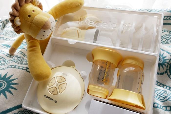 [育兒] 美德樂Swing maxi 絲韻 翼 電動雙邊吸乳器推薦。電動吸乳器界的夢幻逸品(美樂漢堡機)