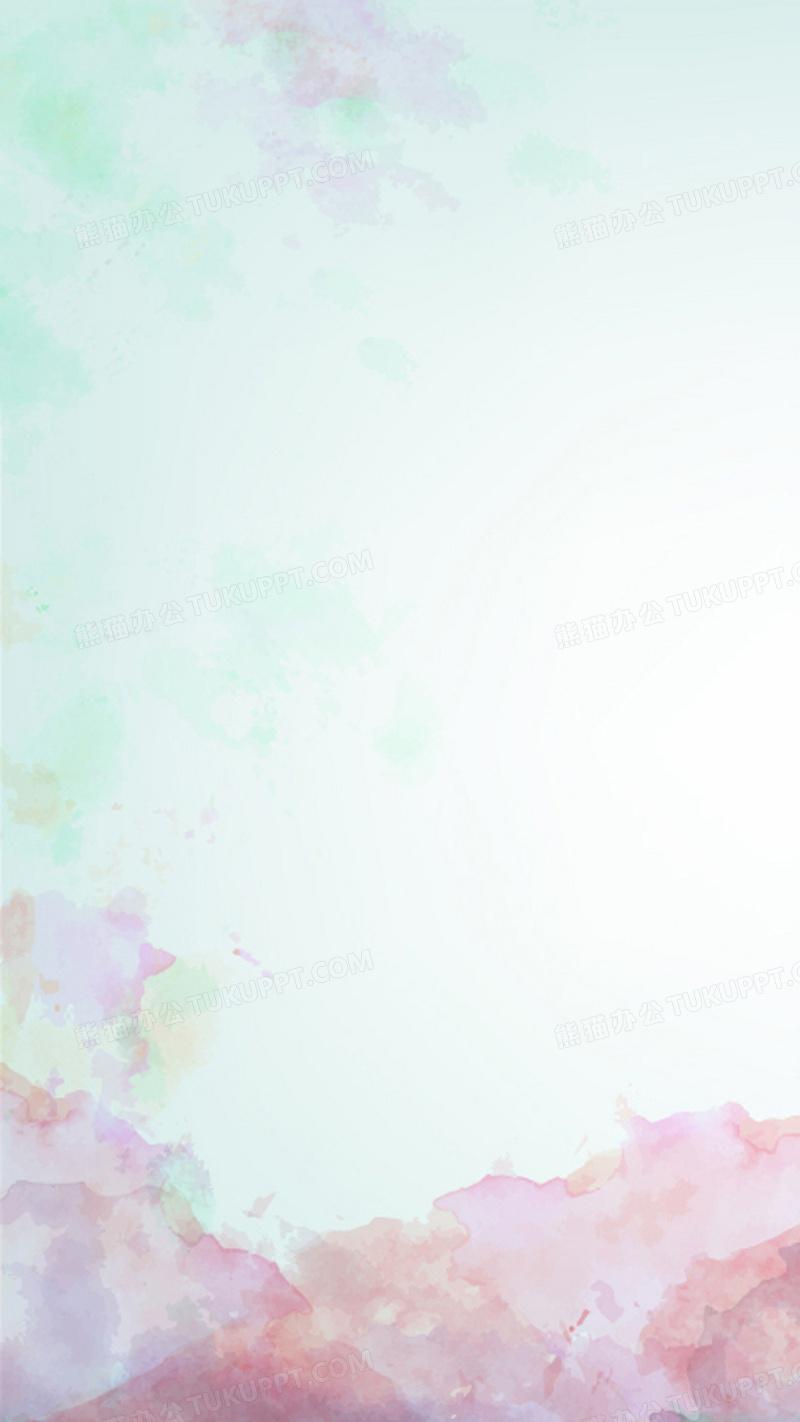 藍色水彩小清新矢量圖h5背景背景圖片素材免費下載_矢量圖背景_1080*1920像素_【熊貓辦公】