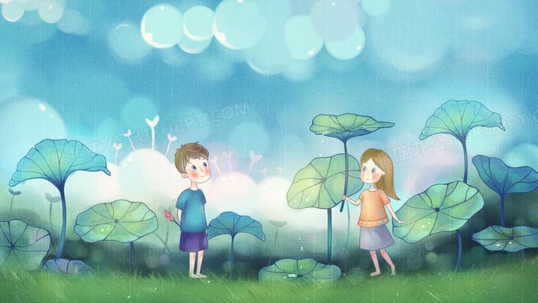 可愛小人卡通壁紙PNG圖片素材免費下載_小人PNG_1920*1080像素_【熊貓辦公】