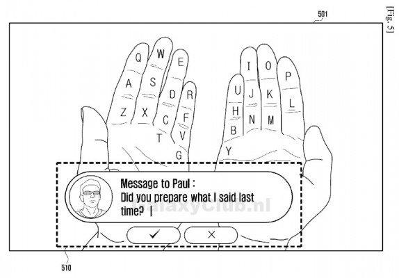 Samsung: ecco il brevetto per la tastiera con Realtà