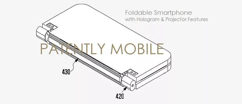 Samsung brevetta uno smartphone con display pieghevole e