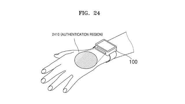 Samsung registra un brevetto per la scansione delle vene
