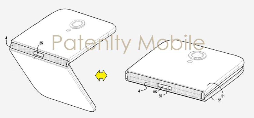 Nuovo brevetto di Samsung per lo smartphone pieghevole