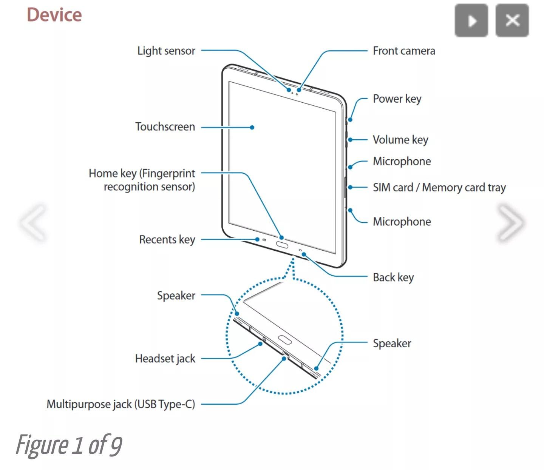 Samsung Galaxy Tab S3: nuove informazioni dal manuale