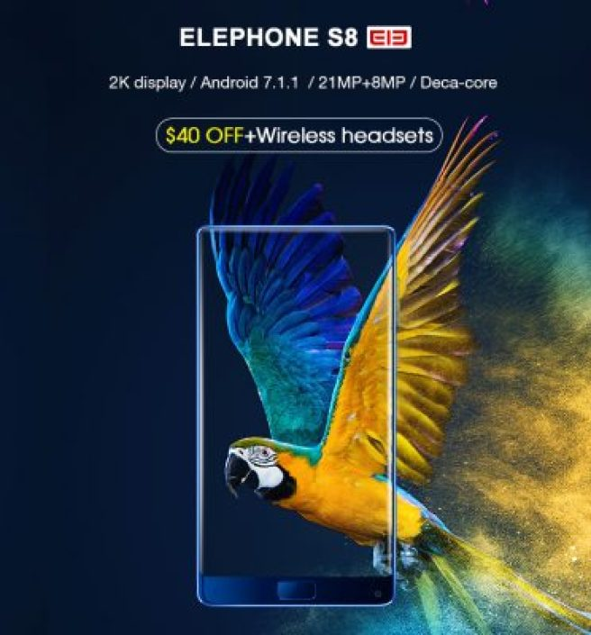 The promotional sale of Elephone S8, the new three-inch bezel less smartphone from China, has started today, on  GearBest, the well-known online store.