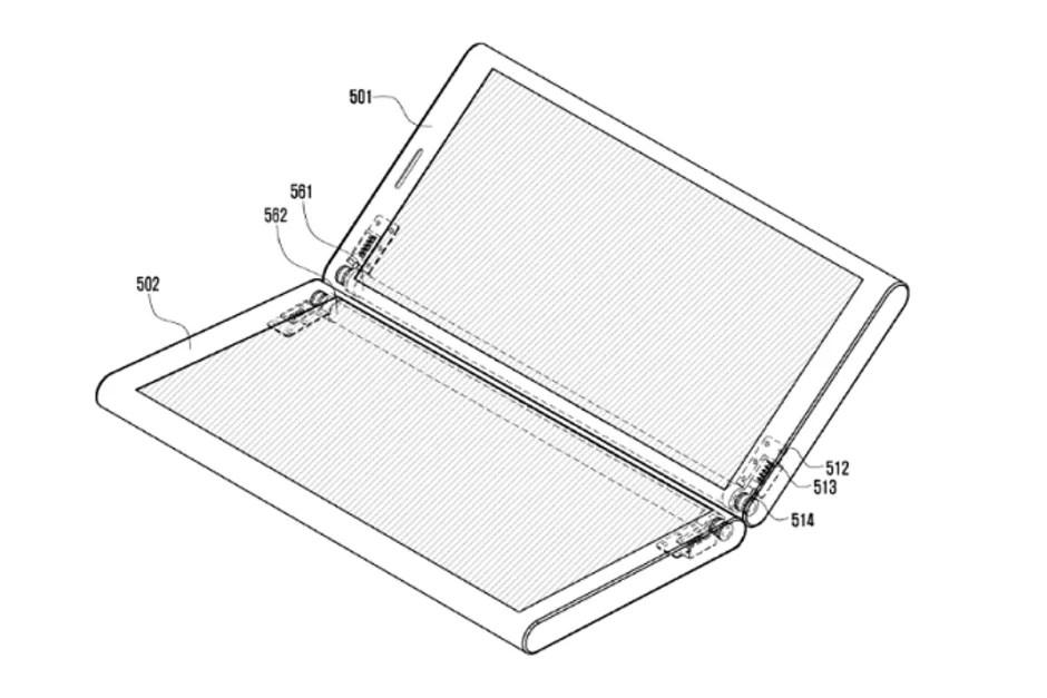 Samsung brevetta un dispositivo con due display attaccati