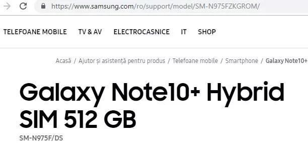 Nuove conferme per il Samsung Galaxy Note 10+ tra supporto