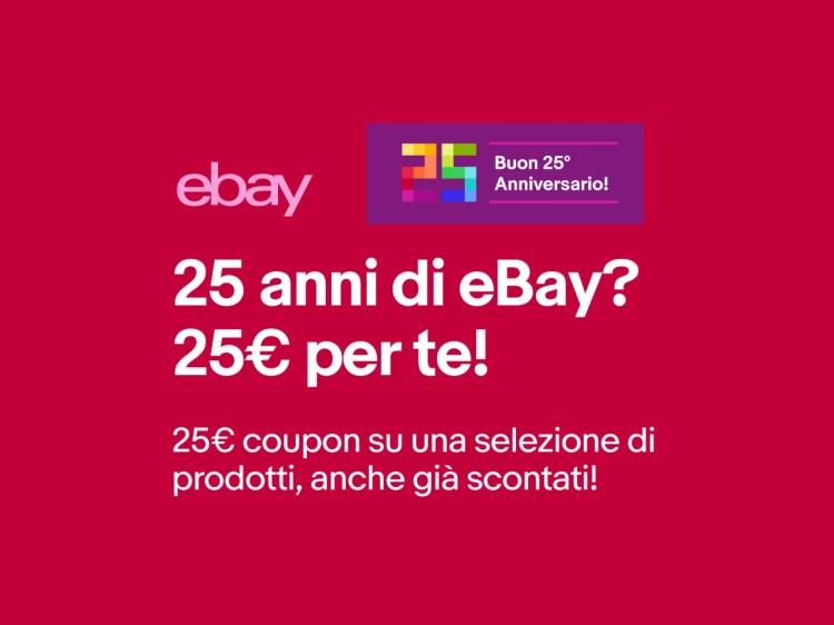 eBay chiude col botto il suo 25° anniversario con un coupon da 25 euro