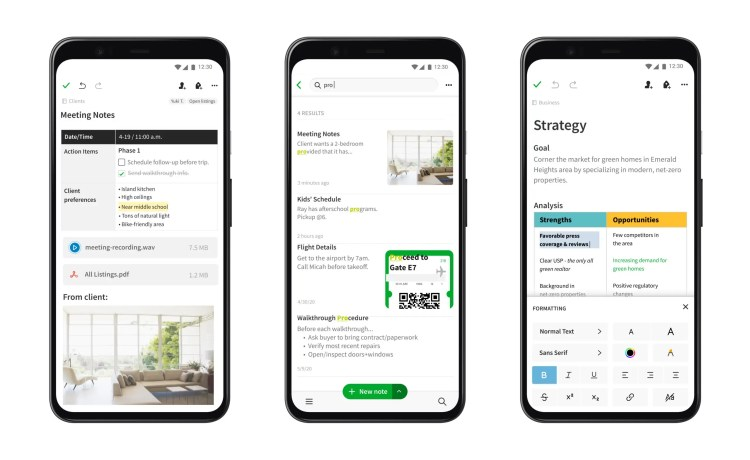 Evernote ottiene un'importante restyling su Android