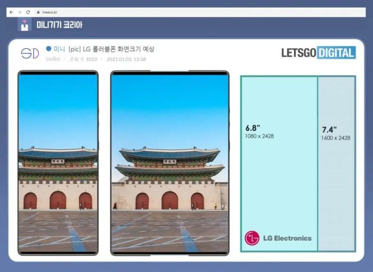LG smartphone arrotolabile
