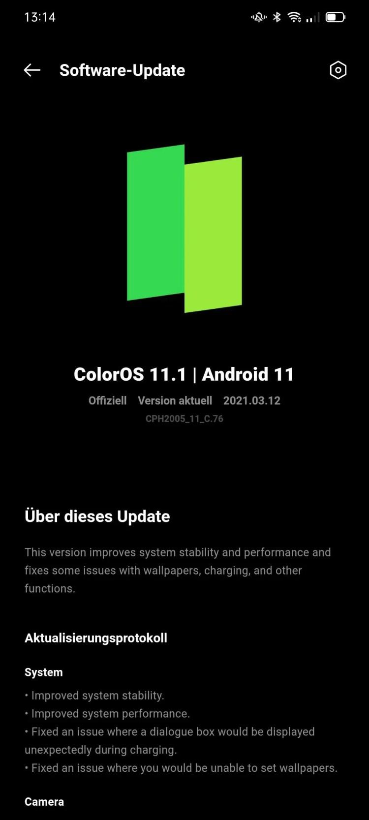 aggiornamento OPPO Find X2 Lite Android 11