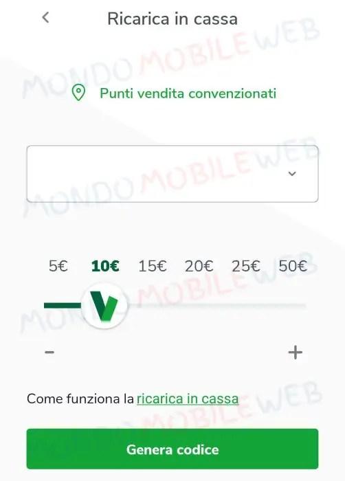 very mobile ricarica in cassa novità aggiornamento