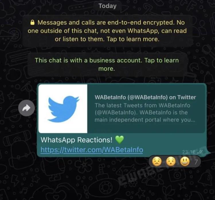 whatsapp reazioni messaggi