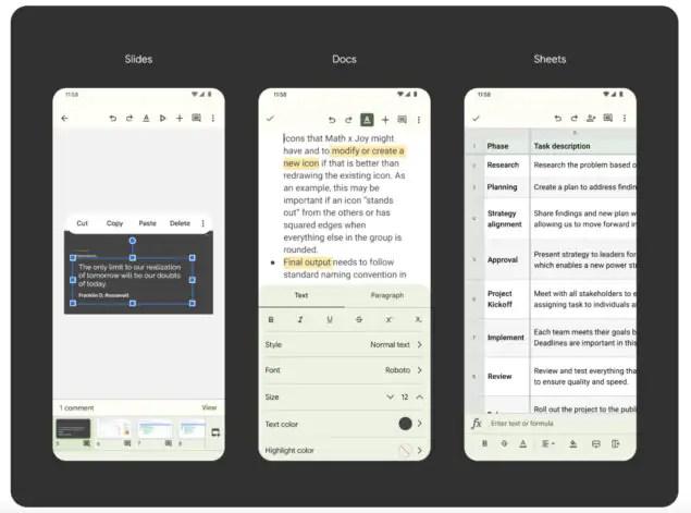 google gmail meet calendario drive documenti fogli presentazioni material you novità