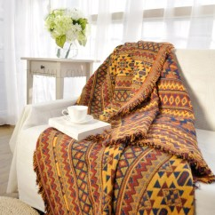 Sofa Cover Blankets Most Comfortable Sleeper 2011 Bohemian Style Tassels Thick Cotton Blanket Home Leisure Bedding Carpet Size