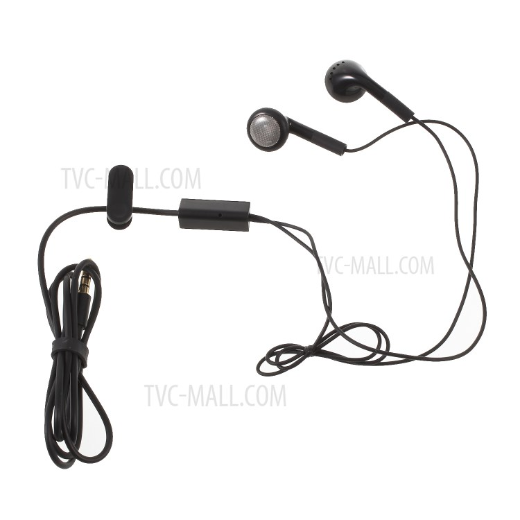 3.5mm Flat Earphone Wired Headset with Mic-TVC-Mall.com