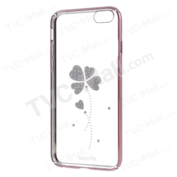 X-FITTED Four-leaf Clover Diamond Hard Case for iPhone 6s