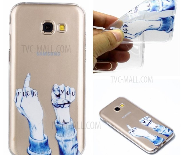 Pattern Printing Tpu Cell Phone Case For Samsung Galaxy A  Fuck Pattern