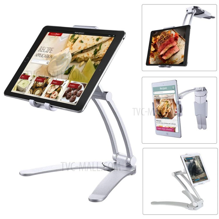 2 en 1 reglable support de bureau de tablette de cuisine ipad support mural