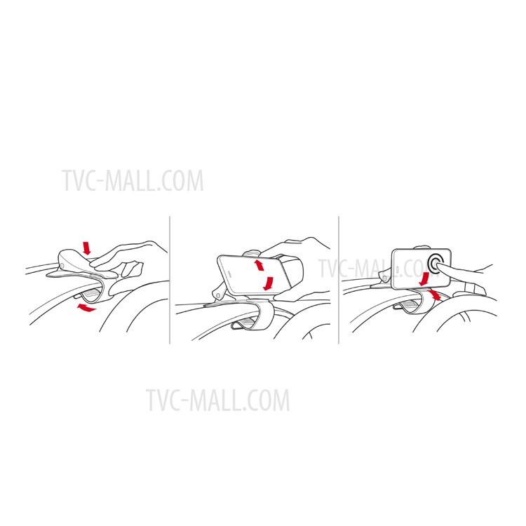 MATE2GO Universal Flexible Phone Clip Holder Desk / Car