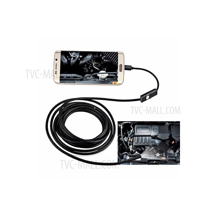 1m AN97 Waterproof Micro USB Endoscope Inspection with 6