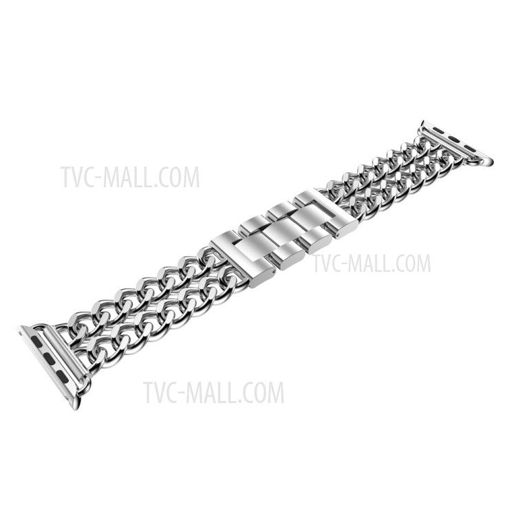 Electroplated Cowboy Chain Stainless Steel Watch Band for