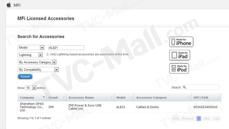 ZMI MFI Certified Lightning 8pin Data Sync Charge USB