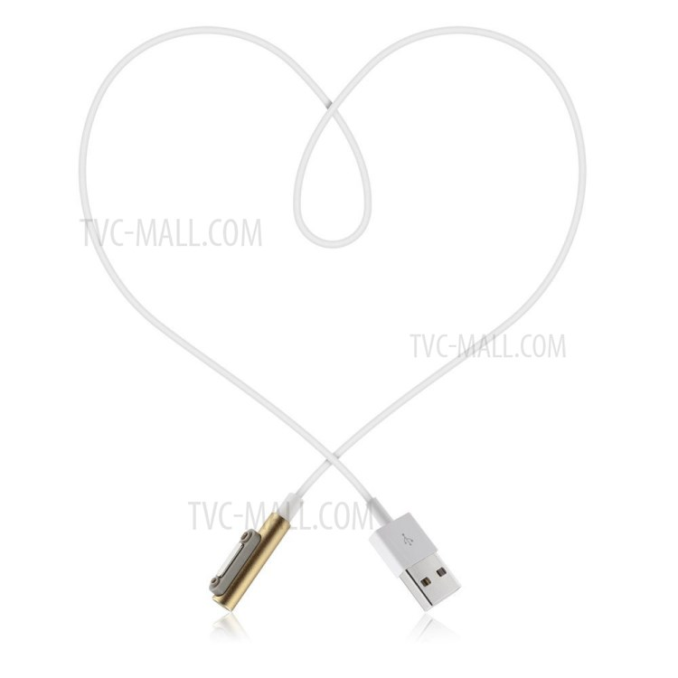 1M LED Flash USB Magnetic Charging Cable for Sony Xperia